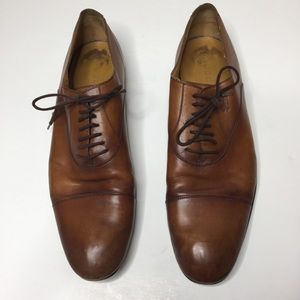 Gucci Brown Leather Lace Up Oxfords